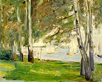 Birch Trees on the Banks of Wannsee, to the East