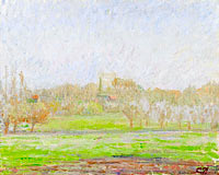 View of Bazincourt, the Mist