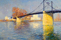 Gustave Loiseau: Suspended Bridge at Triel-sur-Seine
