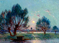 Фердинанд дю Пюигадо: Clear Moon above the Baks of the Loire