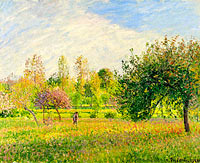 Meadow at Eragny, Summer, Sun, Late Afternoon