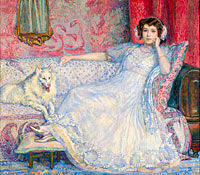 Théo van Rysselberghe: Lady in White (Portrait of Madame Helene Keller)