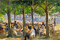 Макс Либерман: Beer Garden near the Havel under the Trees
