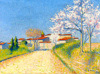 Achille Lauge: The Road Entering to Cailhau