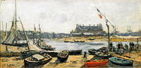 Trouville, View of Port's Landing Stage