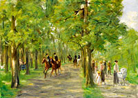 Макс Либерман: Path in the Tiergarten with Riders and Strollers