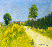 Achille Lauge: The Road of Belveze near Revesible Station