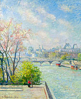 Camille Pissarro: The Louvre, Morning, Spring