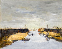 Eugène Louis Boudin: Trouville, the Jetties