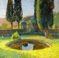Henri Martin: The Pool in the South - East from the Parc of Marquyarol