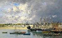Эжен Луи Буден: Boats at the Port of Ancre
