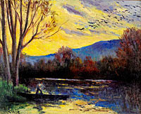Максимильен Люс: Moulineux, Sunset over the Etang