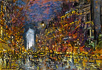 Konstantin Korovin: View of Paris by Night