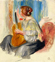 Pierre-Auguste Renoir: Woman with Guitar