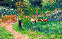 Henry Moret: Shepperdess of the Cows