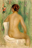 Seated Nude Seeing from the Back