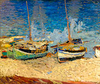 The Boats on the Sand of Collioure