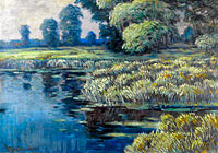 Вацлав Радимский: Willows and Reeads in a River Landscape