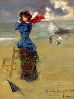 Жан-Луи Форен: Elegant Woman at the Beach