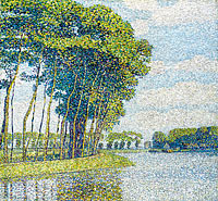 Paul Baum: Trees by the Canal