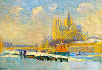 Notre Dame de Paris and the Quay of Tournelle