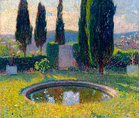 Henri Martin: Little Pool in the Interior of Park of Marquayrol to the Southwest (Early Summer)