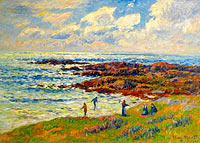 Henry Moret: Gathering of Seaweeds at Nevez