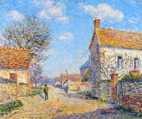 Gustave Loiseau: The Street of Saint-Cyr, the Sun