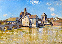 The Bridge of Moret, April Morning