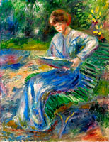 Reading Woman on the Bench