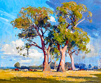 Arthur Streeton: The Three Gums