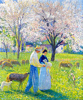 Lovers at Spring