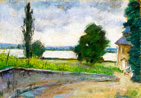 Lesser Ury: House by the Lake