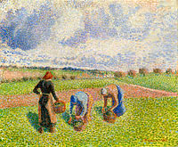 Peasants Gathering Herbs, Eragny