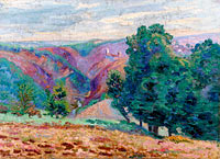 Jean-Baptiste-Armand Guillaumin: Landscape of the Creuse, Ruins of the Castle of Crozant