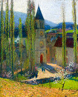 Анри Мартен: The Church of Labastide-du-Vert, Late Afternoon
