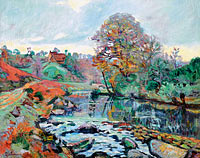 Jean-Baptiste-Armand Guillaumin: Landscape of the Creuse, View on the Bridge of Charraud