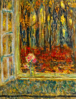 Henri Le Sidaner: The Window in Autumn