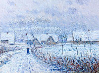 Gustave Loiseau: Wind with Snow, 24 March 1899, Saint-Cyr-du-Vaudreuil