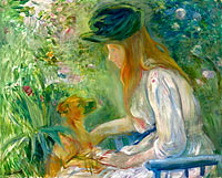 Young Woman with the Dog