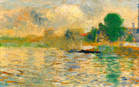 Georges Seurat: Barge on the Seine