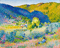 Henri-Edmond Cross: Landscape with Mountain Range