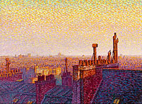 Гюстав Карио: The Roofs of Paris, Sunset