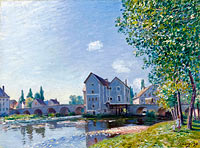 Alfred Sisley: The Bridge of Moret, Morning Effect