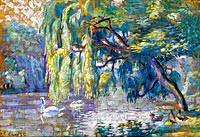 Henri-Edmond Cross: Swans Family (Forest of Boulogne)