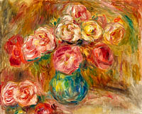 Pierre-Auguste Renoir: Vase with Flowers 01