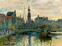 Claude Monet: The Bridge in Amsterdam