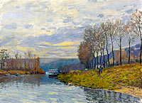 Alfred Sisley: The Seine at Bougival (1)