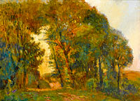 Albert Lebourg: Trees at Sunset