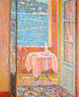 Henri Le Sidaner: Table by the Sea, Villefranche-sur-Mer